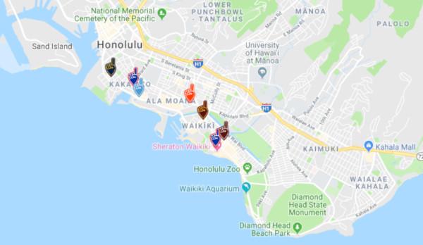 Team Bars Honolulu Hawaii
